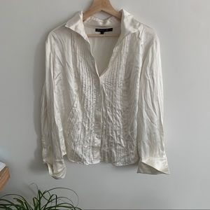 Lafayette 148 - Silk Button Up Blouse